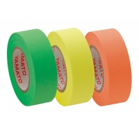 Refill for Memoc Roll Tape (Self-Stick Paper Tape) Fluorescent color  15mm width  (3 roll-pack)