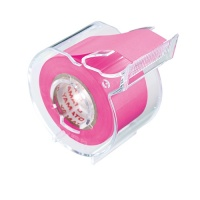 Memoc Roll Tape (Self-Stick Paper Tape) Fluorescent color  25mm width with slim dispenser (contained one roll)