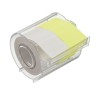 Memoc Roll Tape (Self-Stick Paper Tape) Fluorescent color and recycled paper 25mm width with dispenser (contained two rolls)