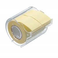 Memoc Roll Tape (Self-Stick Paper Tape) Recycled paper 25mm width with dispenser (contained two rolls)