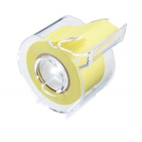 Memoc Roll Tape (Self-Stick Paper Tape) Recycled paper 25mm width with slim dispenser (contained one roll)