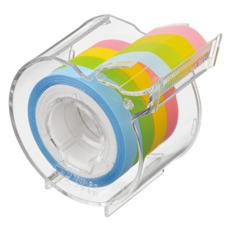 Memoc Roll Tape Film Type (Self-Stick Film Tape) 7mm width with dispenser (contained 4 rolls)