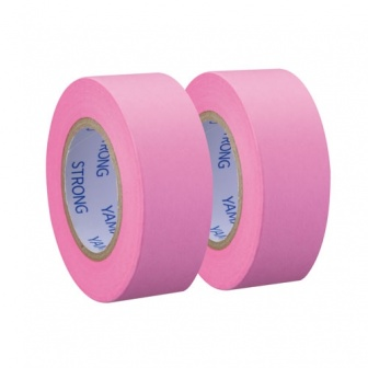 Refill for Memoc Roll Tape EXTRA Sticky (Self-Stick Paper Tape) Fluorescent color with dispenser/cutter