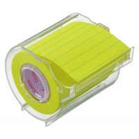 Memoc Roll Tape squared/lined paper (Self-Stick Paper Notes) A Fluorescent color 50mm width roll with a dispenser