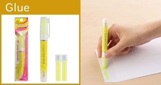 "Color Fading Slim Glue Stick ""CG-2Y"", ""CG-2G"""