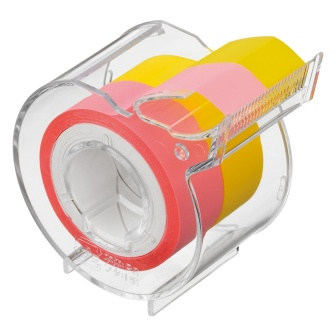 Memoc Roll Tape Film Type (Self-Stick Film Tape)  15㎜ width with dispenser (contained 2 rolls)